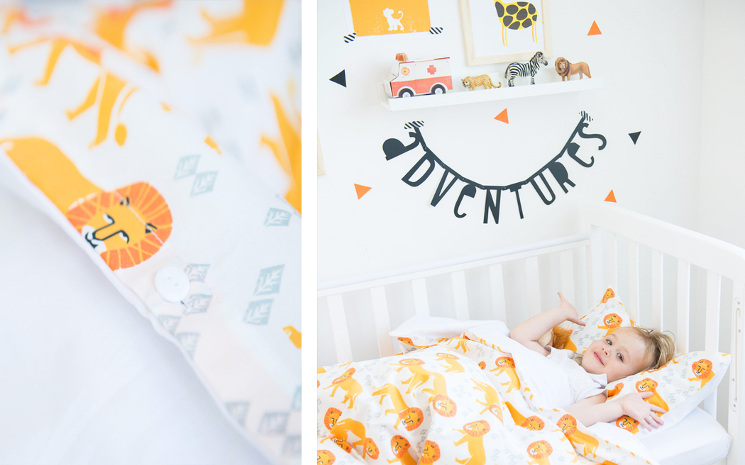 постельное белье для детской кроватки «Львы»