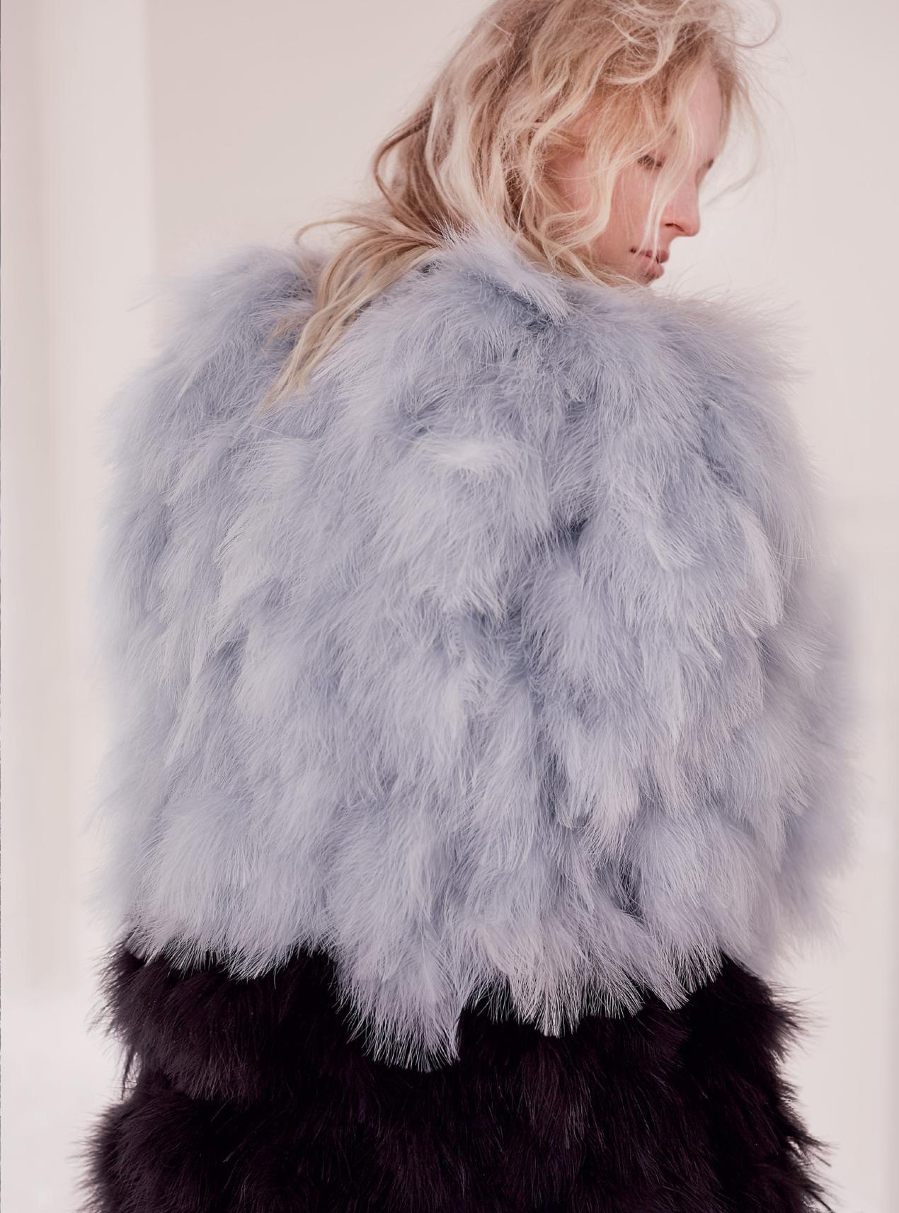 пальто из перьев, Armani Privé