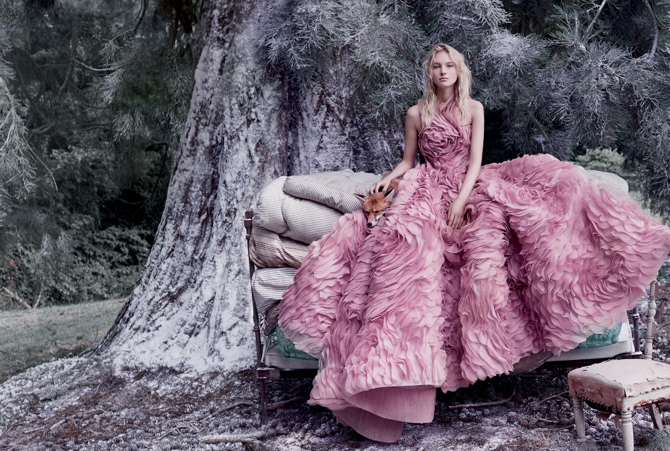 платье из шелковой органзы, Ralph & Russo
