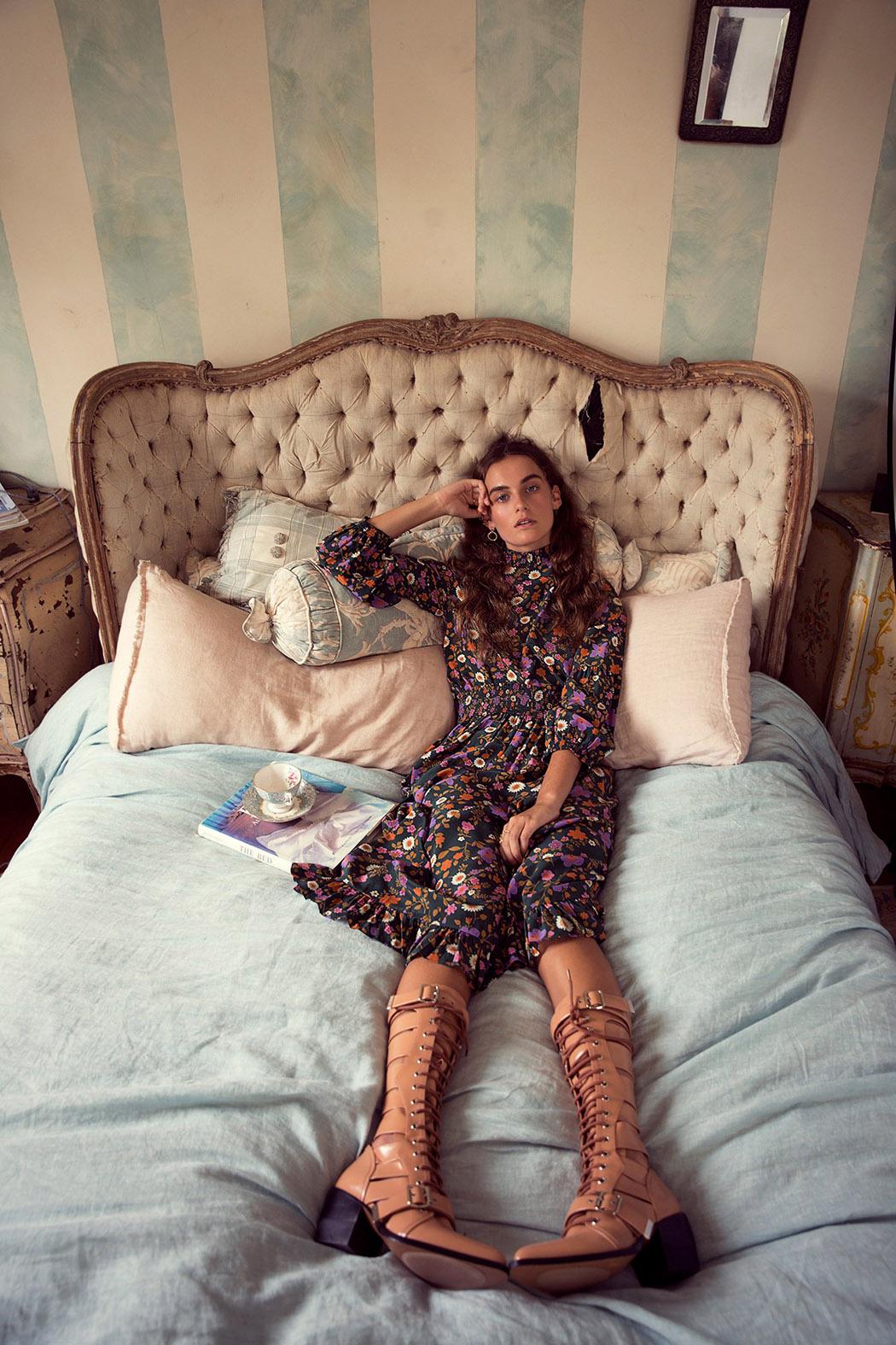 топ, юбка, Scanlan Theodore; ботинки, Chloé